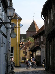 Fiskergade is one of the most idyllic streets in old Ribe, Denmark (by VisitRibe.dk).