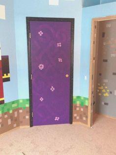 Boys Minecraft Bedroom, Minecraft Room Decor, Minecraft Interior Design, Minecraft Designs, Room Ideas Bedroom, Bedroom Themes, Bedrooms, Minecraft Server, Room Accessories