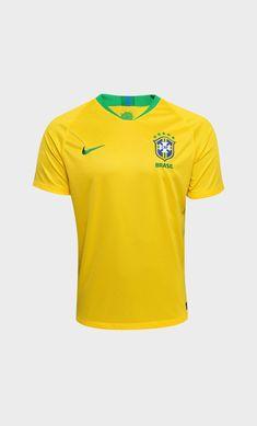 1a524e961af Camisa do Brasil para a Copa do Mundo 2018 Football Shirts