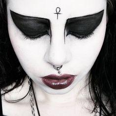 """louiselafantasma: """" #fotd #makeup #gothgoth #gothmakeup #sugarpill #nyxcosmetics #katvondbeauty #katvondlook #tradgoth #deathrock #ankh """""""