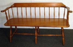 Maple Spindle Bench : Lot 44