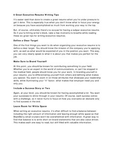 tips on resume writing - Tips On How To Write A Resume
