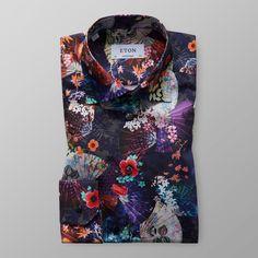 Blommig skjorta - Contemporary fit | Eton Shirts Sverige