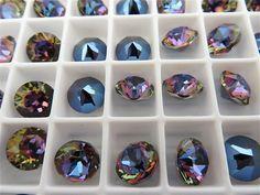 6 Bermuda Blue Swarovski Crystal Chaton Stone 1088 by BeadwareIL-$3.75,12-$7.35