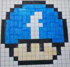 Facebook mushroom perler pattern by DeiDeiCat98 on deviantART