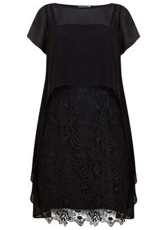 Black Cobweb Lace Dress