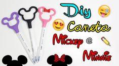 DIY - Caneta do Mickey/Minnie - por Prih Gomes