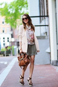 Chic Wish Blazer, Mulberry Alexa Bag, Blackfive Blouse/ Skirt