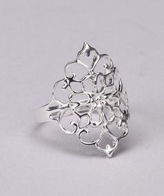 Take a look at this Sterling Silver Medallion Ring by Pretty Things: Standout Rings on #zulily today!