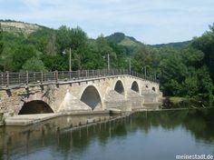 Alte Burgau Brücke am Wehr JENA
