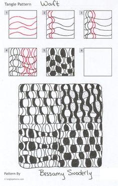 Steps for Beth Snodderly's Waft tangle