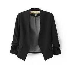Women's Candy Color Slim Short Casual Suit Jacket Blazer – USD $ 16.19