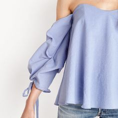 HDY Haoduoyi Women Sexy Slash Neck Solid Blue Blouse Elegent Off Shoulder Street Style Blouse Zipper Pleated Female Tops