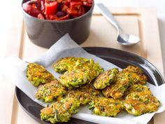 These zucchini feta patties taste even better with undertones of mint and oregano. Served with a fresh tomato salad this meal takes just 30 minutes to make.