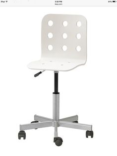 Genial IKEA   JULES, Junior Desk Chair, White/silver Color, , You Sit Comfortably  Since The Chair Is Adjustable In Height.