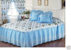 Blue Flowers Thalia Bedspread Bedding Set Twin by bedspread. $44.90. The set includes 2pcs:  1 Bedspread   1 Decorative Cushions   Machine Washable  Fabric: 50% cotton & 50% polyester