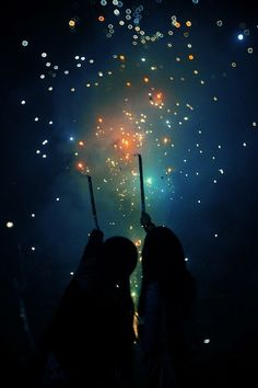sparkly magic in the night #sparklers