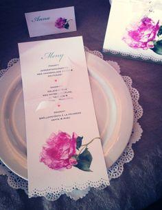 Pion  #placeringskort #inbjudningskort #meny