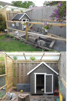 This enclosure is so itty-bitty and adorable! Although, as I have experienced some terrible things in the past, I would recommend putting mesh over the top Rabbit Run, House Rabbit, Rabbit Toys, Bunny Rabbit, Rabbit Cages, Bunny Cages, Diy Pour Lapin, Rabbit Habitat, Rabbit Enclosure