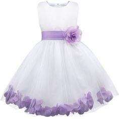 YiZYiF Flower Girl Dress Birthday Bridesmaid Formal Pageant Recital Graduation Lavender 8