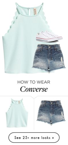 A fashion look from June 2017 featuring shirt top, blue jean shorts and converse shoes. Browse and shop related looks. Look Fashion, Teen Fashion, Fashion Outfits, Philippines Outfit, Casual Dresses, Casual Outfits, Outfits With Converse, Types Of Fashion Styles, Dress To Impress