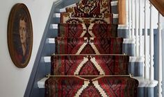 Gorgeous vintage runners.  Megan Pflug, style guru behind the Ine Kings Lane Weekend Decorator column,  creates a totally stunning upgrade for your staircase using a mix-match of vintage runners.