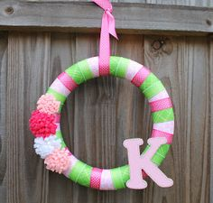 Desperate Craftwives: Baby Girl Wreath