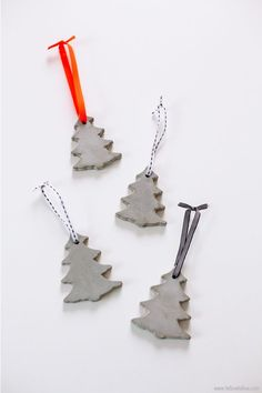 #DIY Cement Ornaments tutorial #crafts