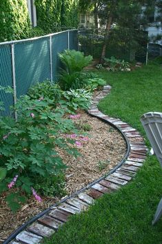 Love the look of the old bricks re-purposed as a garden border - I know I have bricks that look like this!