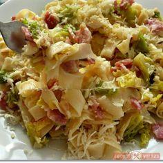 Kelkáposztás-baconös tészta Cabbage, Finger, Food And Drink, Lunch, Foods, Dishes, Vegetables, Cooking, Recipes
