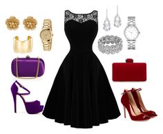 """""""Black Elegance"""" by sunshynemoh on Polyvore featuring Gianvito Rossi, Plukka, Marc by Marc Jacobs, Gucci, Miriam Haskell and Jennifer Fisher"""
