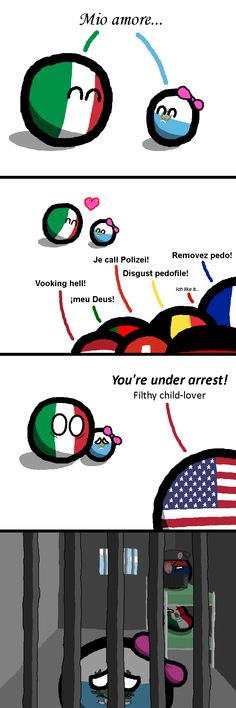 """""""A Minor Relationship Problem"""" San Marino being formed in the year 301. ( Italy, San Marino ) by jesus stalin  #polandball #countryball #flagball"""