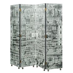 "Piero Fornasetti ""Reflecting City"" Screen ca.1955 