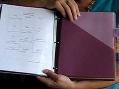 Video of my organizing binder with FREE printable planning sheets.