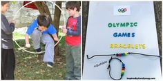 Love the creativity with the outdoor Olympic games and the sportsmanship bracelets at Inspired By Family Mag