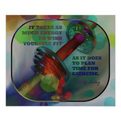 Colorful #Gym Poster with Weights 017 > Sold today > Thank you!