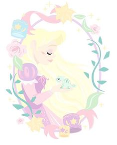 💜🌸🎨absolutely love this super sweet illustration by isn't it beautiful! ✨i love the soft pastel colours. sorry my delay in… Walt Disney, Disney Rapunzel, Tangled Rapunzel, Disney Pins, Disney Love, Disney Magic, Disney Art, Disney Princesses, Disneyland Princess