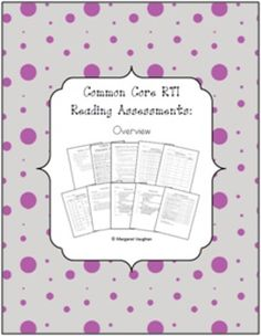 1st Grade RTI Reading Assessments {Aligned with Common Core}