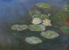 Water Lilies Evening Effect  Claude Monet by PaintingMania on Etsy