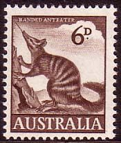 Australian Stamps Australia 1959 SG 316 Animal Numbat Fine Used SG 316 Scott 320 Stamp Values, Postage Stamp Design, Australian Painting, Australian Animals, Vintage Stamps, Fauna, Mail Art, Mint, Stamp Collecting