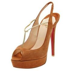France Christian Louboutin sandales agrave Plates-formes Cuoio