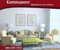 Elegance and fine workmanship never go out of style. If you're ready to give your lounge suite, chairs or other loved furniture a stunning new look, #KommaweerUpholsterers is here to help. Contact us on 044 870 7510 for more information. #Upholstery #services