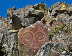 """She Who Watches"" and other petroglyphs.  Guided Tours fridays and saturdays starting April 1  at Columbia Hills State Park, WA"