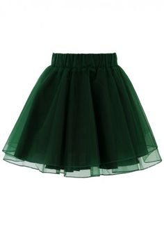Organza Tulle Skirt in Green