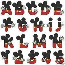mouse crafts - Mickey Alphabet & Numbers Machine Embroidery Patterns 36 Designs In 2 Sizes & Garden Mickey Mouse Crafts, Mickey Mouse Parties, Fiesta Mickey Mouse, Mickey Par Mickey Mouse Letters, Mickey Mouse Crafts, Theme Mickey, Fiesta Mickey Mouse, Mickey Mouse Parties, Mickey Party, Mickey Mouse Birthday, Mickey Minnie Mouse, Disney Crafts