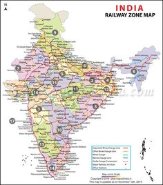 India Railway Zonal Map Http://www.mapsofindia.com/maps/