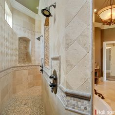 Look behind that great tub there 39 s a walk through shower for Walk through shower pros and cons
