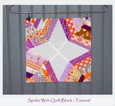 .House. of A La Mode: Spider Web quilt block - Tutorial