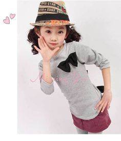 Aliexpress.com : Buy Retail 2013 Girls Fashion Bowknot Spring Autumn T Shirts Baby Girls Casual T Shirts Tops, Children Hoody, Free Shipping GT020 from Reliable Girls Fashion Bowknot T-Shirts suppliers on Missing You