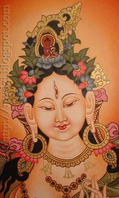 Some Thangka Paintings Buddhism Symbols, Tara Goddess, Thangka Painting, Painting Art, Buddha Sculpture, Tibetan Art, Madhubani Art, Buddha Art, Alice